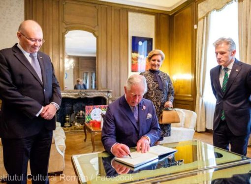 Prince Charles visits the Romanian Cultural Institute