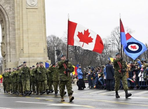 Canadian and US soldiers participate, Hungary boycotts National Day Parade in Bucharest