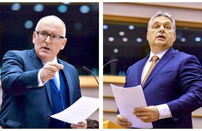 Viktor Orbán and Jaroslaw Kaczynski are being attacked by Frans Timmermans